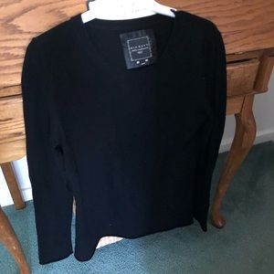 Sweater , long sleeve, black, 100% cashmere